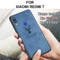 Case Xiaomi Redmi 7 softcase casing back cover leather tpu jeans DEER