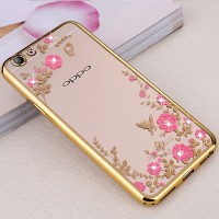 CASING OPPO A1K A33 A7 2018 F9 SILICON FLOWER SOFT BACK CASE FLOWER
