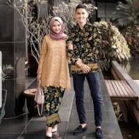 couple abi coksu stelan kebaya tunik brukat batik baju pesta st hab vt