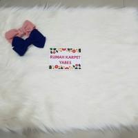 Karpet Bulu Korea Putih 50x65cm HIGH QUALITY