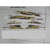 striping stiker motor yamaha mio sporty 2010 Putih