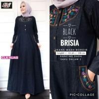 baju wanita gamis brisia jeans muslim modern unik modis lucu trendi