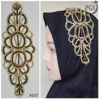 Headpiece Bros Kepala Hijab Rambut Aksesoris Mewah Hiasan Jilbab A027