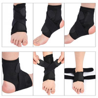 Adjustable Breathable Ankle Support Brace Foot Sprain Injury Pain Wrap
