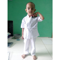 Baju Muslim |Koko Anak Laki laki 2 - 3 tahun Tangan pendek Warna Putih