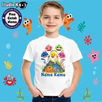 Baju / Kaos Anak / Laki-laki / Perempuan Baby Shark