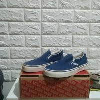 Sepatu Vans Classic Slip On Navy Blue 39 ORIGINAL BNIB TERMURAH