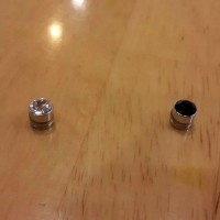 Anting berlian magnet 6mm tanpa tindik