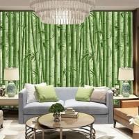 Grosir Murah Wallpaper Sticker Dinding Pohon Bambu Hijau Segar