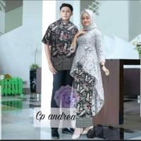 CT Couple Baju Kebaya Brukat Batik Modern Terbaru Andria