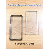 Samsung A7 2018 Anticrack / Anti Crack / ACRYLIC Case Silicone Premium