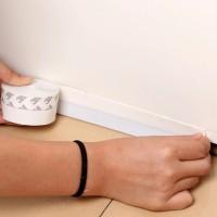 Penahan debu / Penutup celah bawah pintu. Warna putih. 1meter