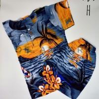 Setelan Baju Pantai Anak Laki-Laki Baju Anak Cowok Rayon Bali kode-H - No 1 usia 1-3