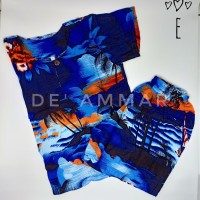 Setelan Baju Pantai Anak Laki-Laki Baju Anak Cowok Rayon Bali kode-E - No 3 usia 7-9