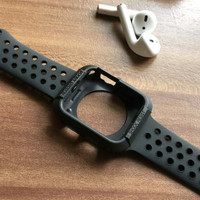 APPLE WATCH STRAP IWATCH 42MM FULL BLACK WITH BUMPER CASE PROTECTION