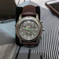 jam tangan pria Swiss Military Chronograph swiss army Watch Titanium