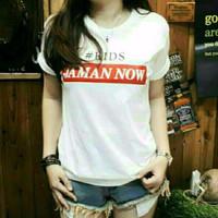 Kaos Wanita Murah / Atasan Kaos Remaja / T-Shirt Modern Kid Jaman Now