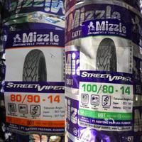 Ban Mizzle Paket 80/90-14 & 100/80-14 Street Viper Tubeless Murah