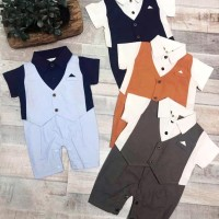 jumper bayi cowo / jas baby tuxedo romper import baju baby boy