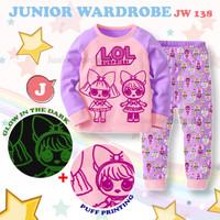 Piyama JW 138 J - Baju Tidur LOL Surprise Anak Perempuan Import - 95 1-2thn