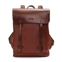 NEW ! Men Women Vintage Backpack PU Leather Laptop bags School Bag