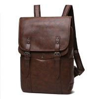 NEW ! Men Vintage Casual Backpack Leather Laptop
