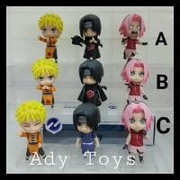 3Pcs/Set Naruto Sasuke Sakura Nendroid Figure Movie Anime Cartoon