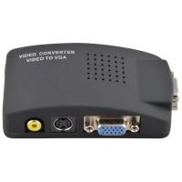 Converter RCA AV SVIDEO to VGA Support High Resolution