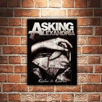 Asking Alexandria Band Poster Kayu Pajangan Dinding Dekorasi Rumah