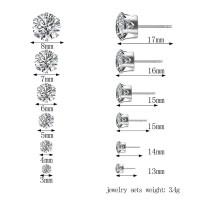 anting permata stainless steel kecil tindik 3mm - 7mm anti karat kado