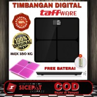 Timbangan Badan Digital kaca max 180 kg taffware