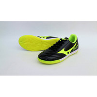 sepatu olahraga futsal mizuno fortuna warna hitam hijau sz 39-44