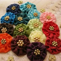 aplikasi bunga kain simpel/bahan bros/souvenir/aksesoris