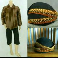 Baju Surjan Lurik+Blangkon+Celana/Baju Adat Jawa/ Baju Khas Solo Jogja