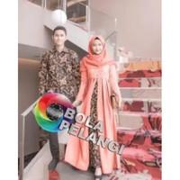 Batik Couple / Couple Batik / Baju Muslim Wanita Terbaru 2018 / Batik