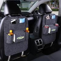Car Storage Bag - Universal Box Back Seat Bag Organizer Backseat