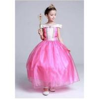 Baju pesta Anak gaun Princess disney Aurora Pink
