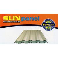 Atap uPVC Sunpanel 12mm (Putih, Biru, dan Semi-Transparan) Sun Panel