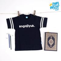 Baju Kaos Anak Ammarkids AT62 Ngaji Yuk Sablon Glow In The Dark