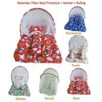 Kasur Lipat Lipat Bayi Kelambu / Kasur Bantal Guling Motif