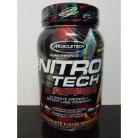 Nitrotech Ripped 2 lbs Muscletech Nitro tech 2lbs lb 2lb Whey Protein