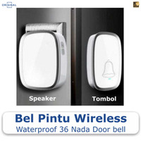 Bel Pintu Rumah Wireless Waterproof 36 Nada Door bell