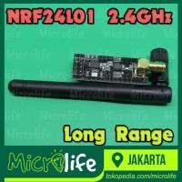 NRF24L01 PA NA 2.4Ghz Wireless Module Plus Antenna Jarak Jauh 1.1 KM