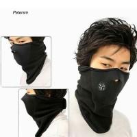 Masker Ninja Half Face Leher Motor Sepeda Outdoor