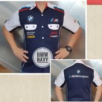 Baju Seragam Otomotif BMW Baju Komunitas Moto GP Kemeja Bordir F1