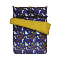 BED COVER MOTIF BINATANG WARNA BIRU SIZE 160X210 cm