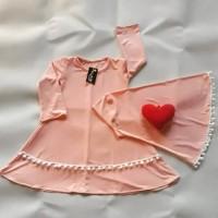 gamis syar'i bayi/busana muslim anak perempuan/dress anak/baju bayi