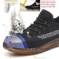 Sepatu safety sneakers tahan gilas tahan paku anti selip ringan A 008