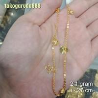 gelang rantai kaki emas asli kadar 700 70% 18k 22 surabaya