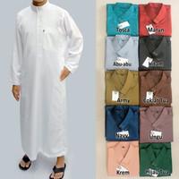 Jubah Muslim Saudi Panjang - Gamis Pria - Baju Lebaran Cowok - CS002